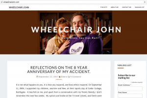 Wheelchair John site - a disability blog
